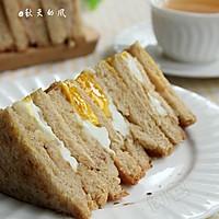 秋天的早餐三明治【红糖胚芽吐司】