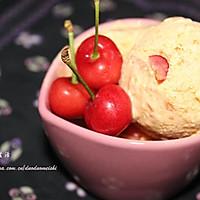 杏黄樱桃冰激凌(免搅拌)