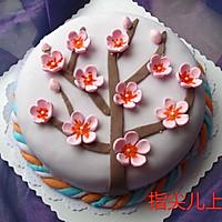 翻糖蛋糕-- 腊梅迎春
