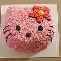 """萌翻你的""""喵星人""""KITTY生日蛋糕#长帝烘焙节#"""