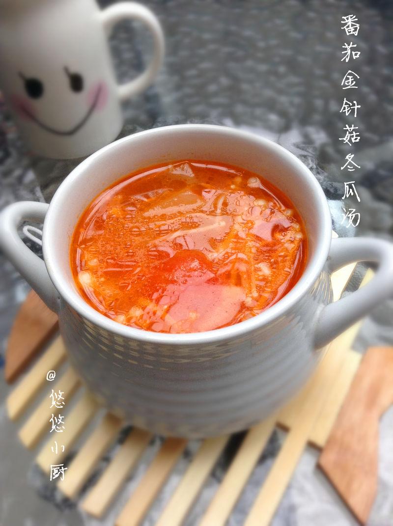手绘西红柿汤