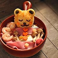 #十二道锋味复刻#小熊洗澡彩色面条汤