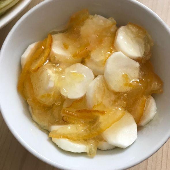 柚茶山药,低卡健康甜品
