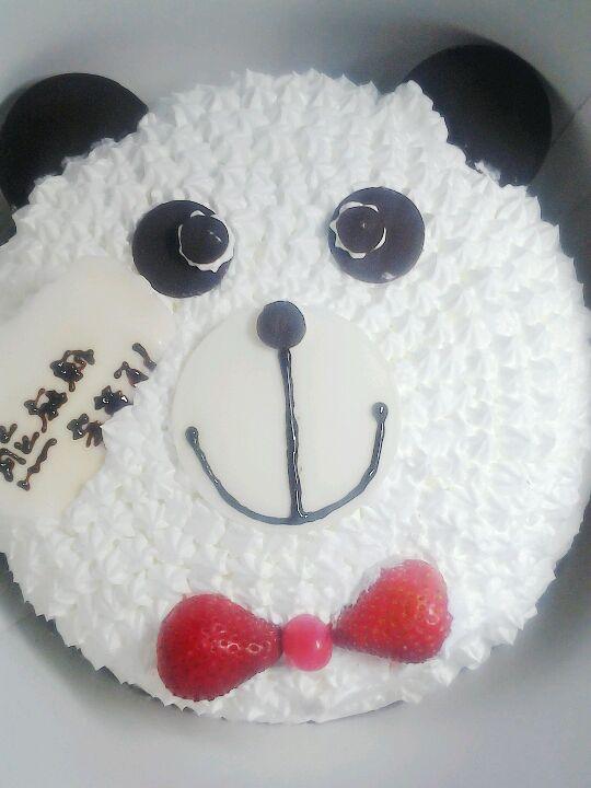 3.8妇女节买给妈妈的熊熊蛋糕