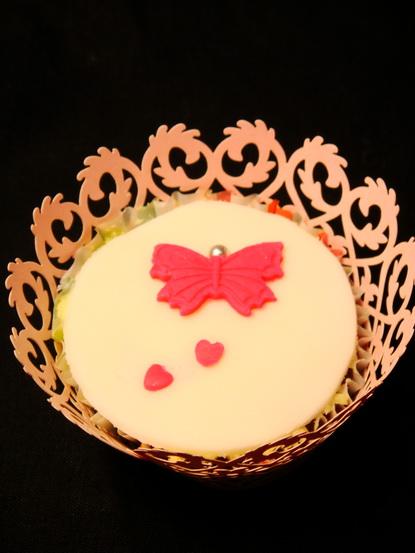 翻糖纸杯蛋糕(蝴蝶),翻糖纸杯蛋糕(雪之恋)