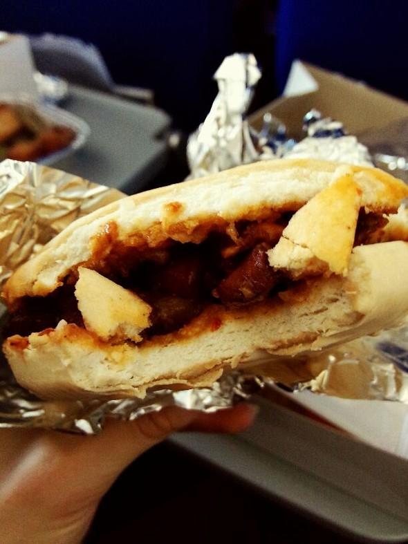 飞机上的中式早餐