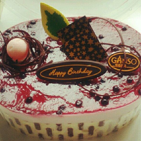 元祖蓝莓冰激凌蛋糕