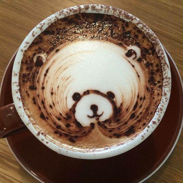 可爱的小熊咖啡