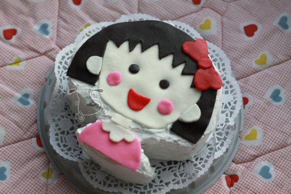 樱桃小丸子 翻糖蛋糕