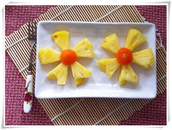 菠萝切花样图解步骤