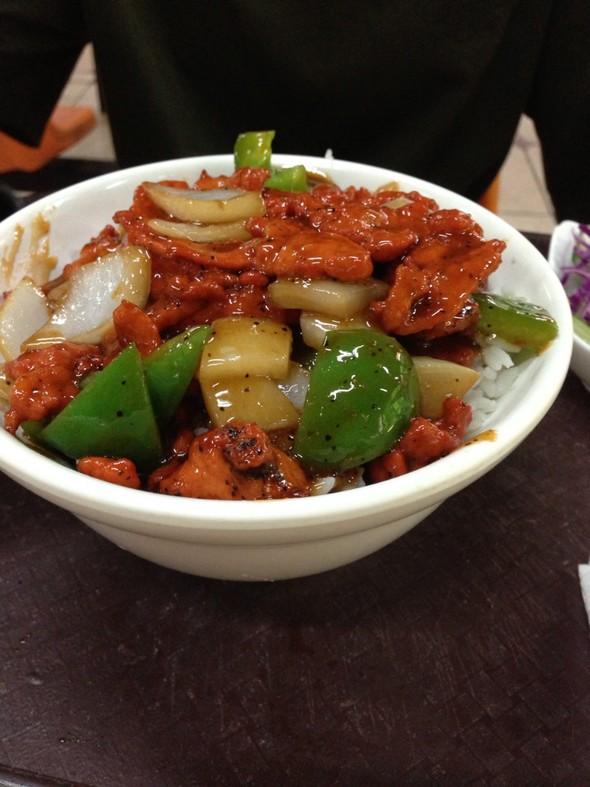 黑椒牛柳饭,京酱肉丝木桶饭_toeflihateu的美食日记