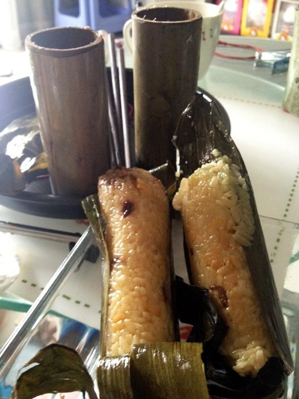 竹筒粽子_马太小厨的美食日记
