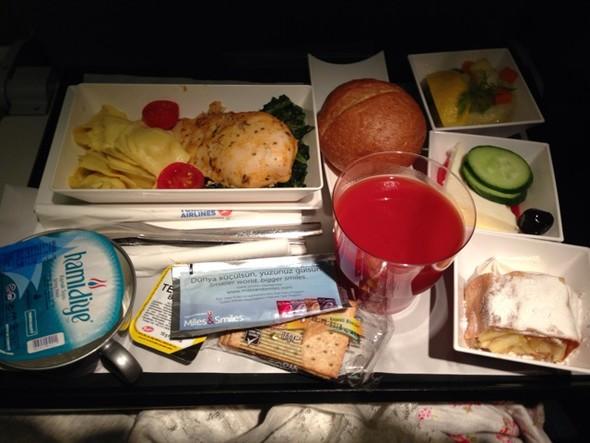 土耳其航空的飞机餐好棒