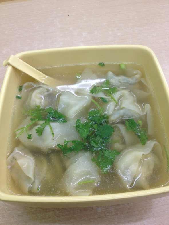 虾仁荠菜馄饨