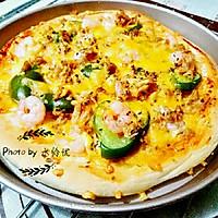 金枪鱼虾仁披萨