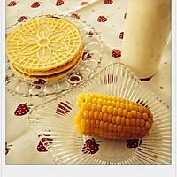 香草蛋卷,香蕉奶昔,玉米