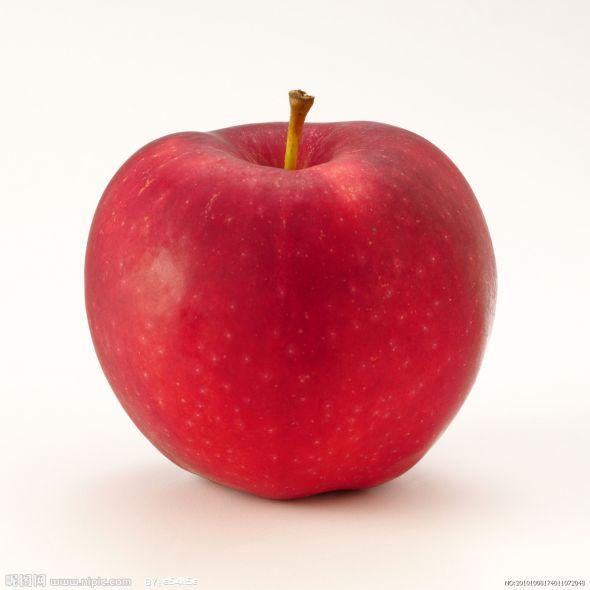 一盘苹果 矢量图
