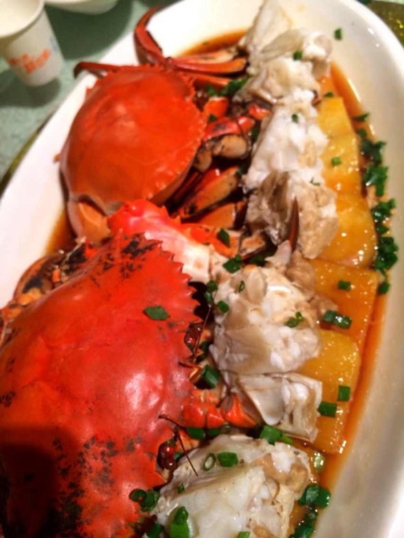 红薯蒸蟹_蘑菇力的美食日记