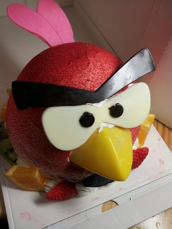 愤怒的小鸟生日蛋糕