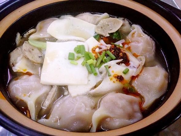 三鲜砂锅饺