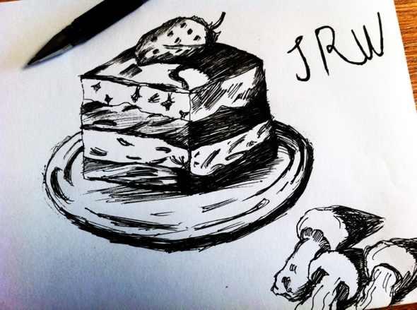 手绘蛋糕 蘑菇