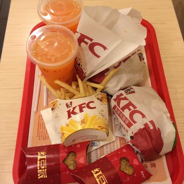 kfc塑料覆膜菜单 单张