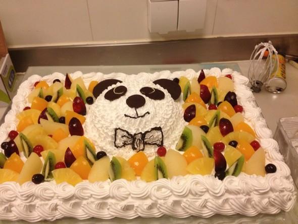好可爱呀,熊猫蛋糕