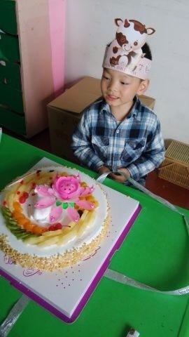幼儿园的生日蛋糕