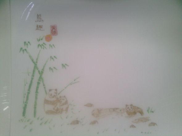 熊竹子手绘图片