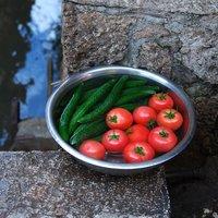 河水浸蔬果