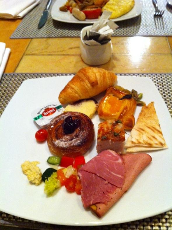 希尔顿酒店自助早餐