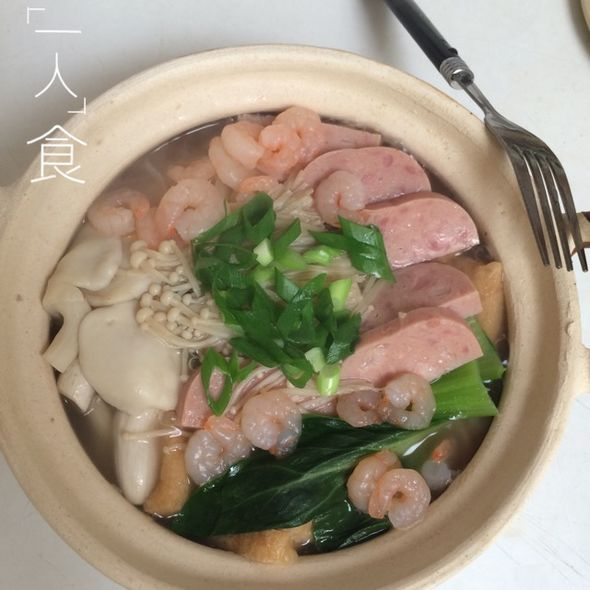 砂锅三鲜菜图片