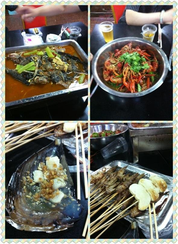 鲶鱼 羊肉串 烧烤 小龙虾 十三香/味道非常赞!