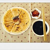 胡萝卜葡萄干鸡蛋甜饼,咸鱼,黑芝麻糊辣白菜