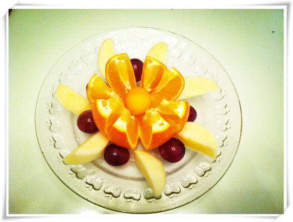 简易水果拼盘图片